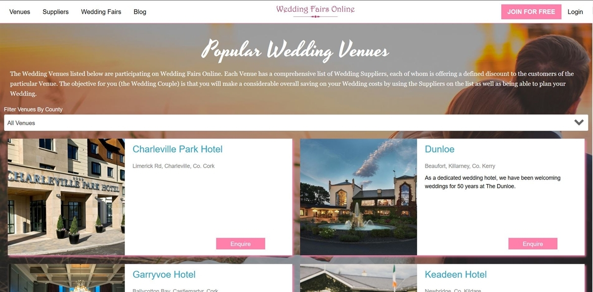 Picture of Wedding Fairs Online